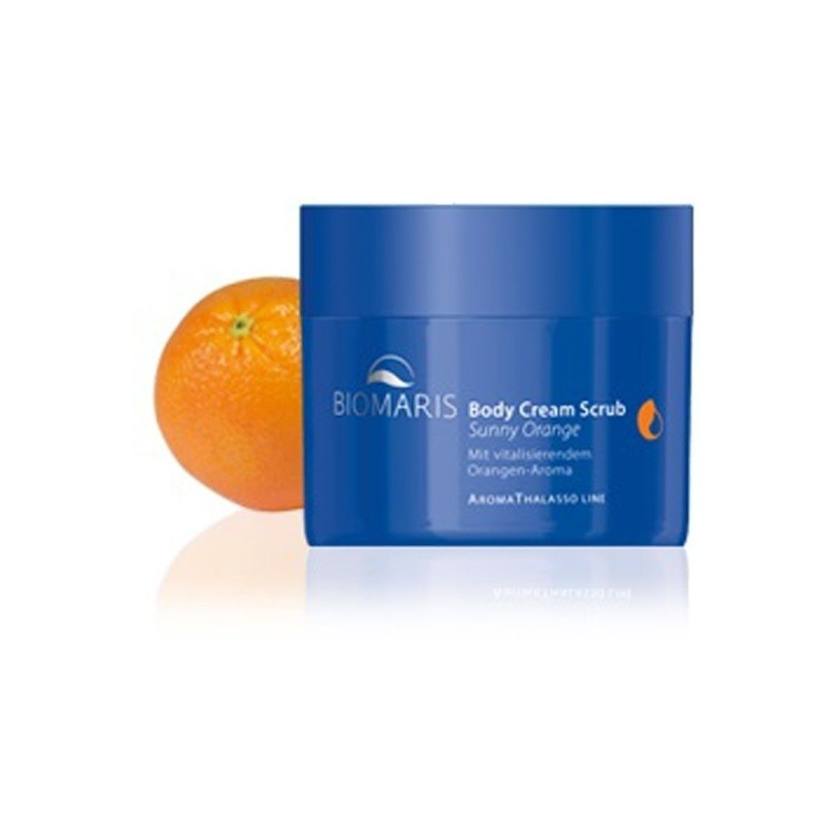 Afbeelding van Biomaris Body Cream Scrub Sunny Orange Aroma Thalasso Line Beauty