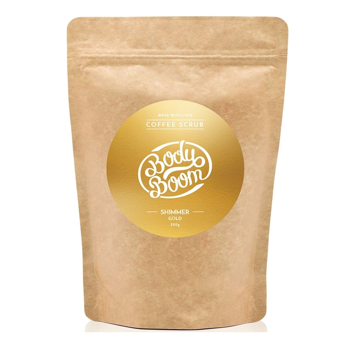Afbeelding van Bodyboom Coffee Scrub Shimmer Gold Bodyscrub Beauty