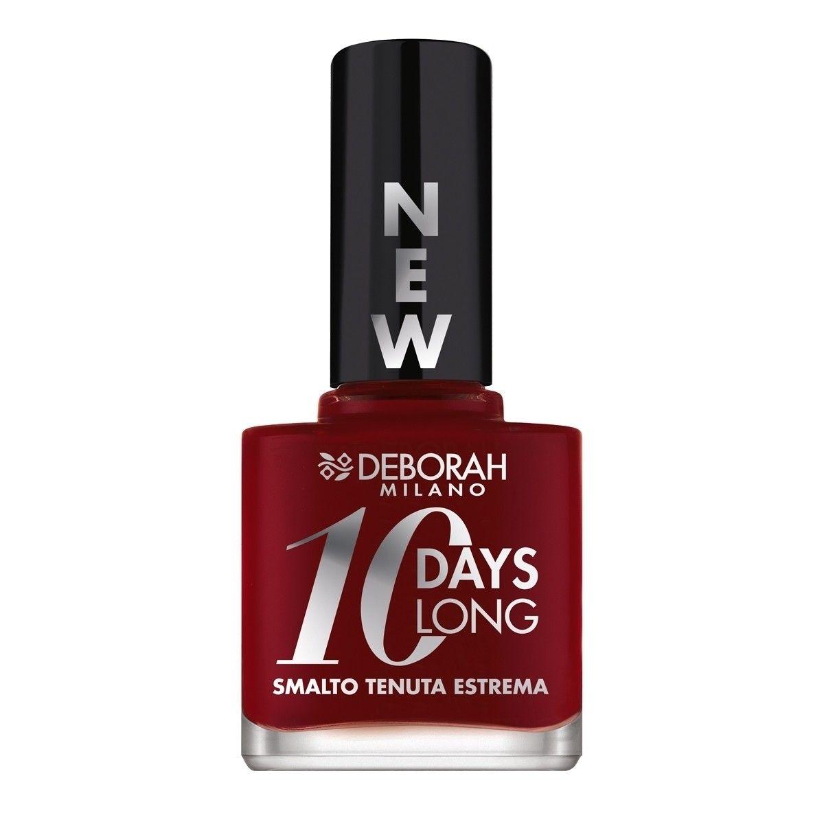Afbeelding van Deborah Milano 10 Days Long Nail Enamel 161 Dark Red Nagellak Make up