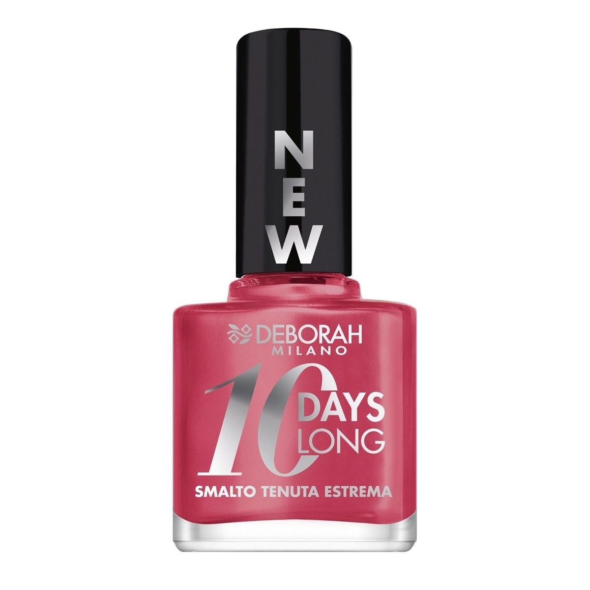 Afbeelding van Deborah Milano 10 Days Long Nail Enamel 850 Pearly Pink Bubble Nagellak Make up