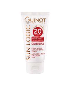 Guinot Uni Bronze Creme Solaire Anti-Age Teintee Visage Fps20 50 Ml
