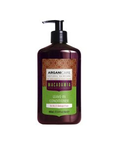 Arganicare Macadamia Leave-In Conditioner For Dry & Damaged Hair - Argan & Macadamia 400 Ml