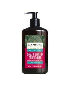 Arganicare Keratin Leave-In Conditioner For Dry Hair - Argan & Keratin 400 Ml