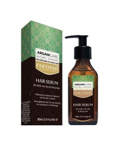 Arganicare Hair Serum For Dull, Very Dry & Frizzy Hair - Argan & Coconut 100 Ml