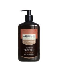 Arganicare Leave-In Conditioner For Very Dry & Dull Hair - Argan & Coconut 400 Ml