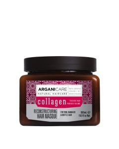 Arganicare Reconstructuring Hair Masque For Thin, Damaged & Brittle Hair - Argan & Collagen 500 Ml
