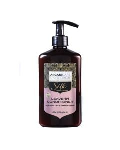 Arganicare Leave -In Conditioner For Very Dry And Damaged Hair - Argan & Silk Protein 400 Ml
