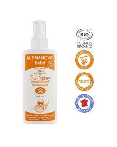 Alphanova Bio Spf 50 Bebe Hypo Allergeen Spray 125G