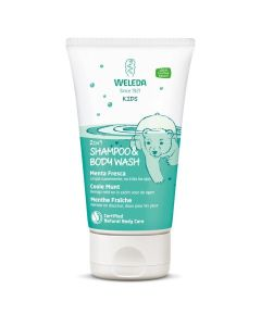 Weleda Kids 2 In 1 Shower & Shampoo Coole Munt 150 Ml
