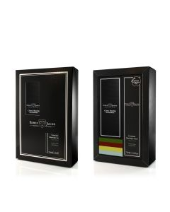 Edwin Jagger Boxed Gift Set Safety Razor In Black & Aloë Vera Shaving Cream
