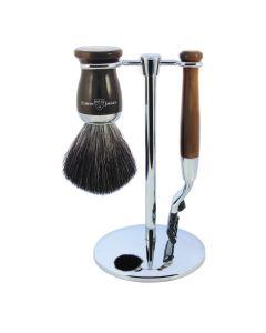 Edwin Jagger 3 Pc Shaving Set 72 Series Mach3 - Light Horn
