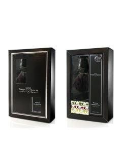 Edwin Jagger Boxed Gift Set Black Fibre Shaving Brush In Black & Aloë Vera Shaving Cream