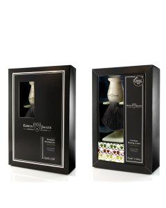 Edwin Jagger Boxed Gift Set Black Fibre Shaving Brush In Ivory & Aloë Vera Shaving Cream