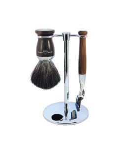 Edwin Jagger 3 Pc Shaving Set 72 Series Fusion - Light Horn