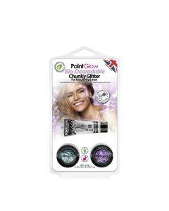 Paintglow Bio-Degradable Chunky Loose Glitter, Hang Pack 2