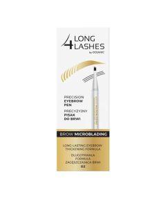 Long4Lashes Precision Eyebrow Pen Brow Microblading 02 Brown