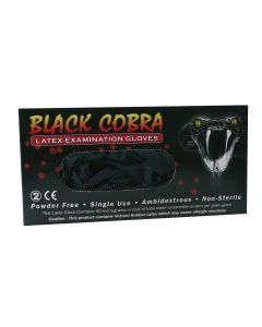 Ibp Gloves Latex Black Cobra Size Large 100Pcs