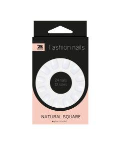 2B Nails Natural Square