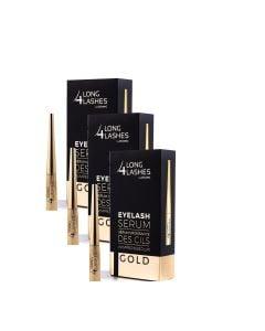Long4Lashes Gold Eyelash Serum 4 Ml 3-Pack