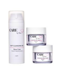 Care By Bema Rosa Care Daycream + Night Cream + Soft Cleansing Gel